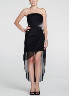 Short, black prom dress