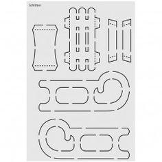 Design schablone nr 3 rentierschlitten din a4 x mas - Schlitten basteln pappe ...