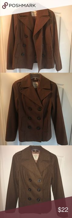Wool-Blend Peacoat for Women Product Details: -Spread collar. -Eight-button, double-breasted front. -Welt pockets in front. -Convenient hanging loop inside. -Medium-weight wool-blend shell, with smooth polyester lining. Old Navy Jackets & Coats Pea Coats