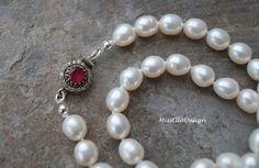 Perlenketten - Perlenkette geknotet 925 Silber - ein Designerstück von edelsteinreich bei DaWanda