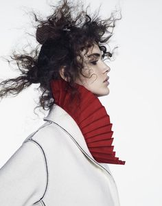 """Dreaming of Dior: """"A Dash of Red"""" Vanessa Moody for Vogue Japan July 2015"""