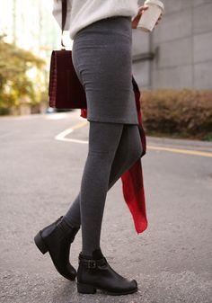 LUXE ASIAN WOMEN STYLE KOREAN FASHION CLOTHES Napping skirt leggings Ulzzang Fashion, Asian Fashion, Women's Fashion Dresses, Fashion Clothes, Skirt Leggings, Asian Style, Asian Woman, Dress Skirt, Underwear