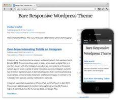 Bare Responsive – A blank and responsive WordPress Theme