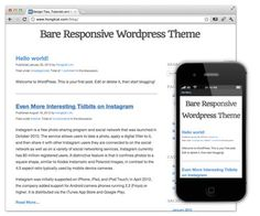 Bare Responsive – A blank and responsive WordPress Theme