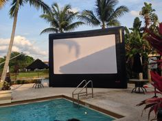 Outdoor Movie Night by our Pool Deck