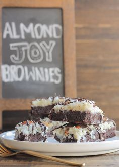 If you're the one who hoards Almond Joys at Halloween, these fudgy brownies are all yours.