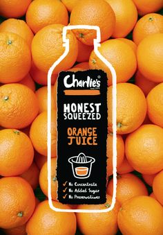 I like this because it makes me think that the orange juice is very natural and does not have any other additives in it. It's simple yet eye catching and regardless if it has additives or not, I'm sure that's what this brand was going for.