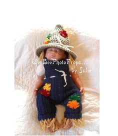 newborn+halloween+scarecrow+costume+by+WeeBeePhotoProps+on+Etsy,+$60.00