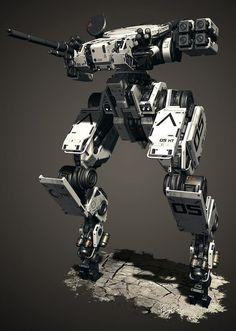 Robot Concept Art, Armor Concept, Weapon Concept Art, Cyberpunk, Military Robot, Robots Characters, Arte Robot, Armadura Medieval, Future Weapons