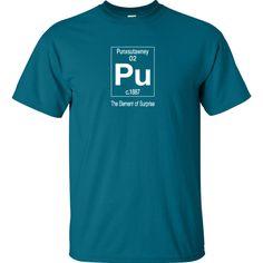Punxsutawney's Element of Surprise Graphic T-Shirt @ LOVEgroundhogs.com