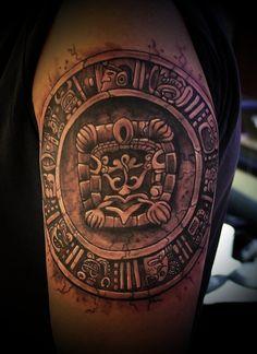 black & gray mayan tattoos - Google Search