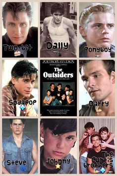 The Outsiders Darry Ponyboy Sodapop Johnny Dally Two-Bit Steve The Outsiders Sodapop, The Outsiders Cast, The Outsiders Quotes, The Outsiders Imagines, Die Outsider, Greaser Girl, Dallas Winston, Ralph Macchio, Image Film