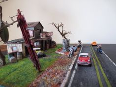 diorama old gas station 1:87