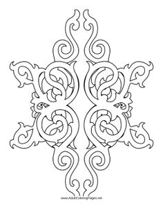this adult coloring page features delicate vertical scrollwork