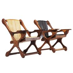 Pair of 'Swinger' sling chairs by Don Shoemaker - Señal Mexico | From a unique collection of antique and modern lounge chairs at http://www.1stdibs.com/furniture/seating/lounge-chairs/