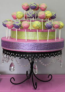 How to display my cake pops for the baby shower :-)