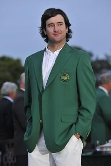 Green Jacket for Bubba Watson, Masters Winner-A golf game to remember & when a man hugs his mama & sobs on her shoulder you have to love him. 2014 Masters, Golf Push Cart, Augusta National Golf Club, Masters Tournament, Masters Golf, Golf Art, Golf Player, Sports Stars, Golfers