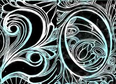 Art Nouveau by Numbers by Laura Beckman, via Behance