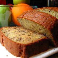 Janets Rich Banana Bread - I just made this! Best banana bread and muffing I've ever had! Made a double batch and used 6 banana instead of Used half for bread and half in muffin cups. Janet's Rich Banana Bread Recipe, Easy Banana Bread, Banana Bread Recipes, Janets Banana Bread Recipe, Quick Bread, Best Banana Bread Recipe Allrecipes, Banana Bread Recipe With Baking Powder, Banana Bread With 2 Bananas, Banana Bread Sour Cream