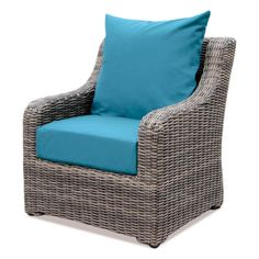AE Outdoor Cherry Hill Plastic Lounge Chair With Spectrum Peacock Cushion