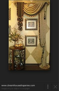 Decorative panel & swag