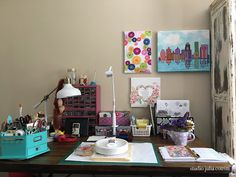 Julia Cotrim Scrapbooking & Design: {a little walk at my studio - um passeio no meu st...