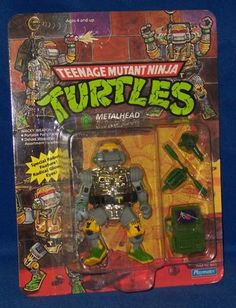 Metalhead - Possibly one of my favorite childhood toys. I had to buy him again for my shelf! Ninja Turtle Toys, Ninja Turtles Action Figures, Teenage Mutant Ninja Turtles, Retro Toys, Vintage Toys, Tmnt Characters, Greatest Villains, Modern Toys, Childhood Toys