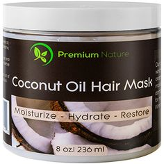 Coconut Oil Hair Mask Conditioner 8 oz 100 Natural Deep Leave In Conditioner Sulfate Free Damaged Hair Treatment Moisturizing Intensive Repair Restores Shine Nourishes Scalp Premium Nature >>> See this great product. (This is an affiliate link) Deep Hair Conditioner, Deep Conditioning Hair Mask, Natural Hair Mask, Natural Hair Styles, Hair Treatment Mask, Coconut Oil Hair Mask, Dry Damaged Hair, Organic Shampoo, Moisturize Hair