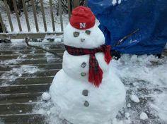 Husker snowman.