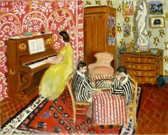 Pianist and Checker Players by Henri Matisse