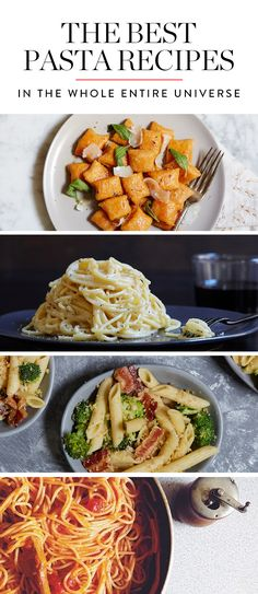 The Best Pasta Recipes in the Whole Entire Universe via @PureWow #datenight #housematedinner ?