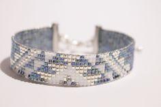 Bracelet tissé à la main en perles de verre miyuki : Bracelet par les-zig-zag