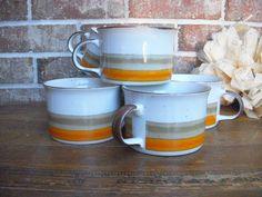 Midcentury Stoneware Soup Bowls