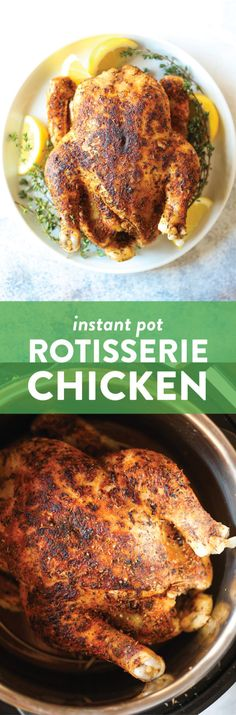 Teriyaki Chicken, Rotisserie Chicken, Ip Chicken, Chicken Spaghetti, Roasted Chicken, Instant Pot Whole Chicken Recipe, Instant Pot Dinner Recipes, Instant Pot Pressure Cooker, Pressure Cooker Recipes
