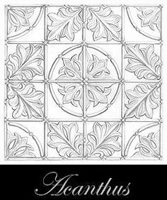 diseño del techo de metal prensado - Acanthus