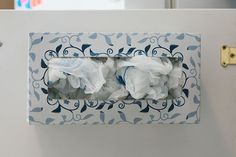 Reduce, reuse, recycle ideas for tissues and tissue boxes.