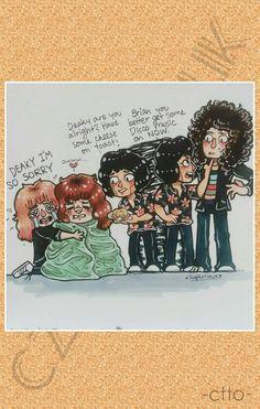 Queen Drawing, Queen Meme, A Kind Of Magic, Beautiful Lyrics, Queen Art, John Deacon, Killer Queen, Rock Legends, Freddie Mercury