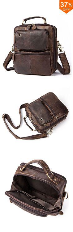 a03d1a9250 New Fashion-Free Shiping Men Retro Leather Handbag Shoulder Bag Business  Casual Crossbody Bag