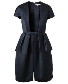 Browns fashion & designer clothes & clothing | CARVEN | Structured Black Satin Dress