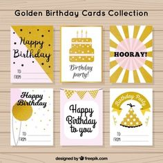 Happy Birthday Parties, Birthday Cards, Golden Birthday, Playing Cards, Party, Google, Image, Bday Cards, Happy Birthday Cards