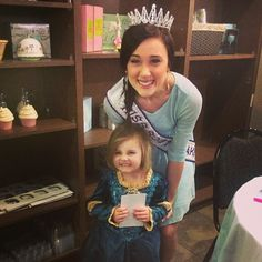 Princess Party is happening right now! Miss South Dakota, Mariah Logan is here signing autographs! Fun!!! #ohmycupcakes