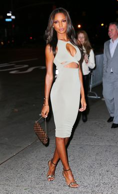 Jasmine Tookes looked lovely in white at the Victoria's Secret Swim viewing party at Marquee.