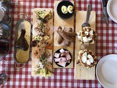cabane a sucre labonté Dairy, Menu, Cheese, Food, Pea Soup, Salmon Tartare, Confit Duck Leg, Duck Confit, Marshmallow Yams