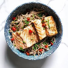 Aburi Salmon Bowl With Soba Noodles, Chiles And Scallions via @feedfeed on https://thefeedfeed.com/whiskeyandsoba/aburi-salmon-bowl-with-soba-noodles-chiles-and-scallions