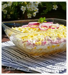 Chicken Egg Salad, Sweet Potato Chips, Polish Recipes, Polish Food, Mediterranean Diet Recipes, Cooking Recipes, Healthy Recipes, Cakes For Men, Side Salad