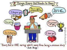 7 Things Every Kid Needs to Hear via Sylvia Duckworth
