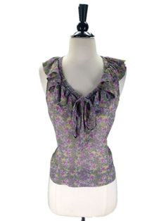 Fei Anthropologie size 6 Silk Floriography Blouse Top #Anthropologie #Blouse #Casual