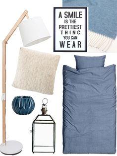 Perfekt fürs Schlafzimmer: Blau trifft Taubengrau