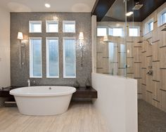 Bathroom Iridescent Mosaic Tile Design, Pictures, Remodel, Decor and Ideas - page 2
