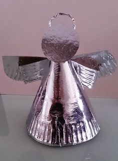 "Letter ""A"" Mommy Bares All: Angel Craft on The Feast of the Guardian Angels and Preschool Crafts, Crafts For Kids, Christmas Angel Crafts, Paper Angel, Catholic Crafts, Guardian Angels, Kids Church, Craft Fairs, Decorative Bells"